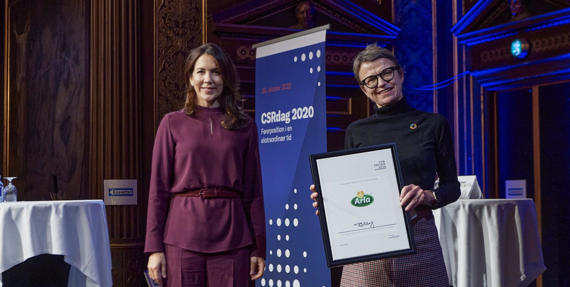 Mary, Crown Princess of Denmark & Hanne Søndergaard, CMO Arla Foods.
