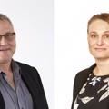 Two Swedish board members handing over