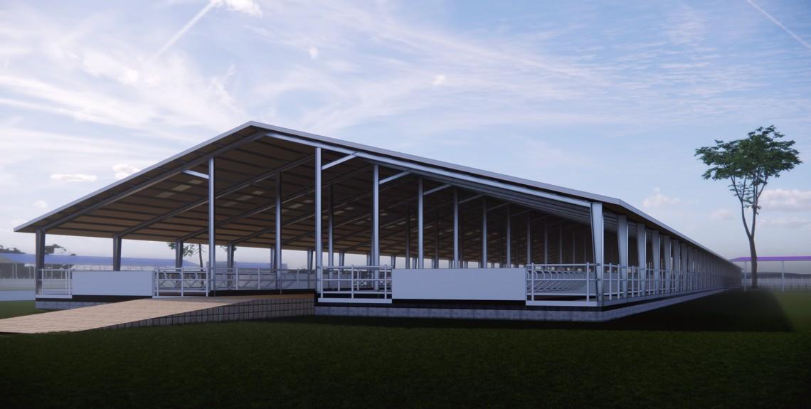 3D image of Kaduna farm cow shed