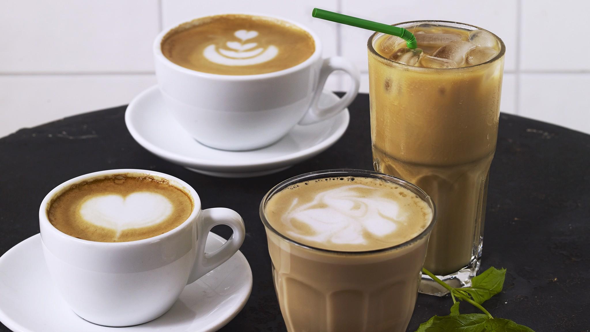 Lista med kaffesorter och cafétermer