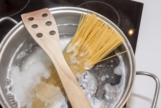 träslev över pastagrytan
