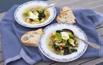 Värmande soppor med ost